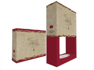 Modello 3D scatola per bottiglia brandy