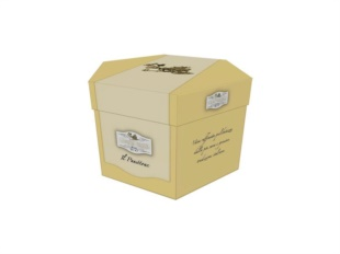 Modello 3D scatola esagonale con coperchio