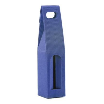 Confezione a sacchetto onda scoperta blu 1 bottiglia