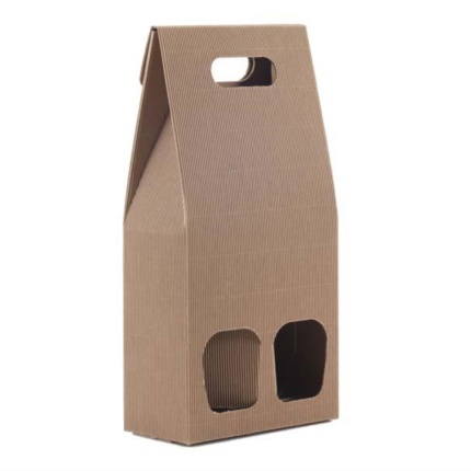 Confezione a sacchetto avana 2 bottiglie