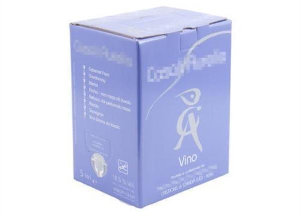 Bag in Box con inchiostro argento| Packaging - Espositori - Bag in Box