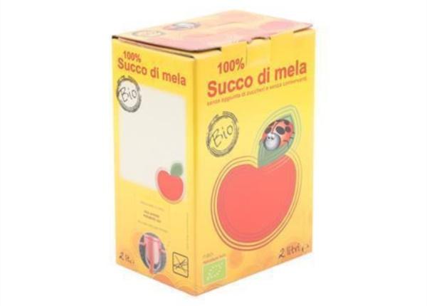Bag in Box succo di mela 2 lt.| Packaging - Espositori - Bag in Box