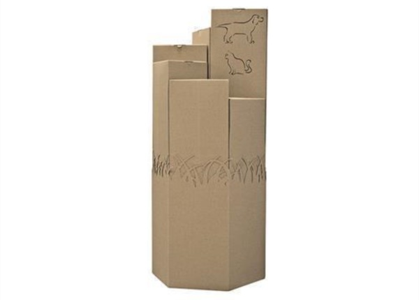 Espositore da terra esagonale in onda scoperta| Packaging - Espositori - Bag in Box